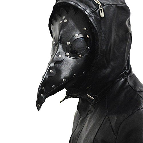 Steampunk - Rock Leather & Vintage Gothic Retro Plague Doctor Maskblack