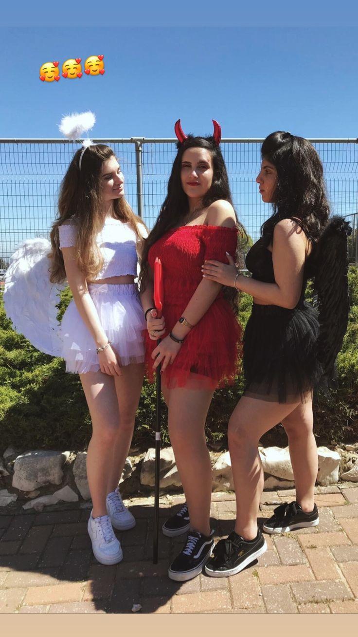 #angel #devil #costume #blackangle #halloween #triples