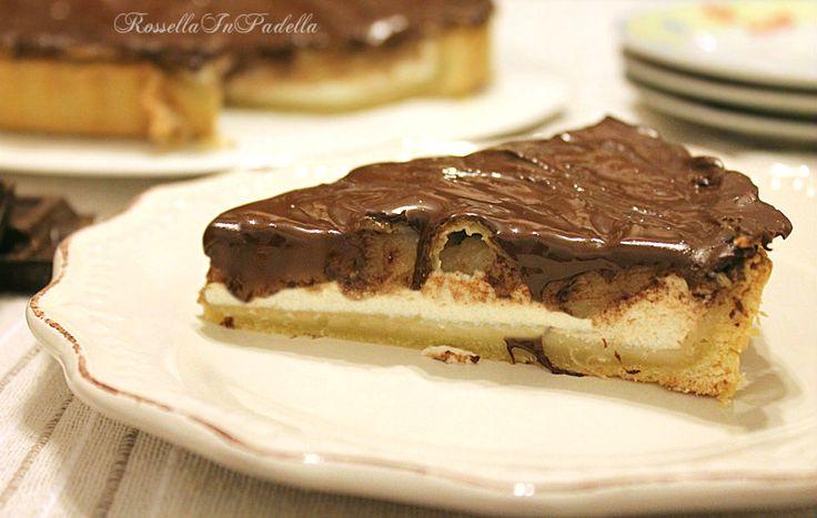 Crostata con ricotta, pere e cioccolato