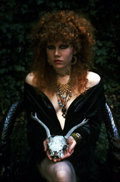 Poison Ivy Rorschach of the Cramps.  One of my favorite style icons with such a great energy and vibe to her.