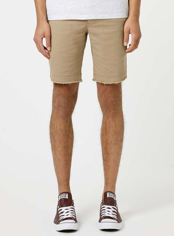 Stone Raw Edge Chino Shorts