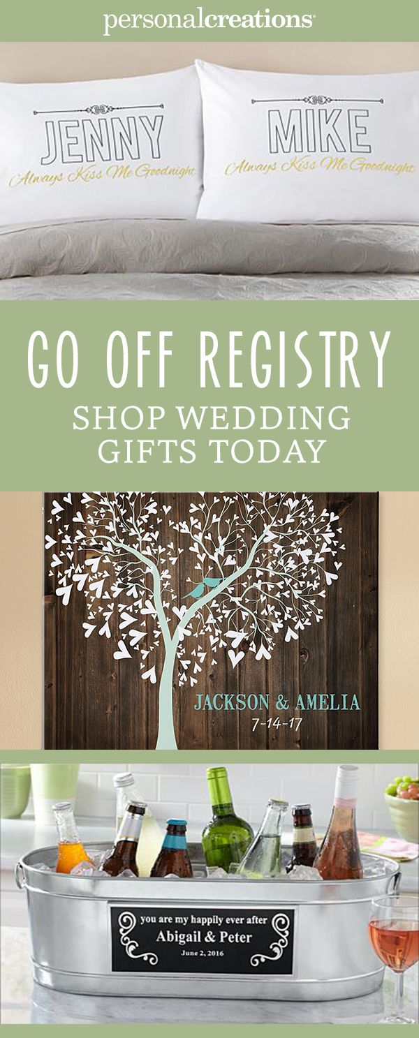 They'll get enough pots and pans. Go off-registry with a customizable gift from Personal Creations. Choose from favorites like pillows, beverage coolers for entertaining, and give the lovebirds a one-of-a-kind keepsake. Get 15% off your order today.