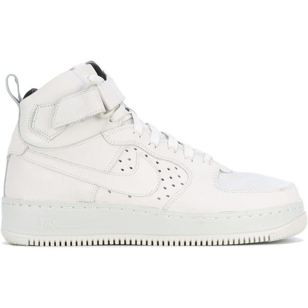 Nike W Air Force 1 hi tops ($300) ❤ liked on Polyvore featuring shoes