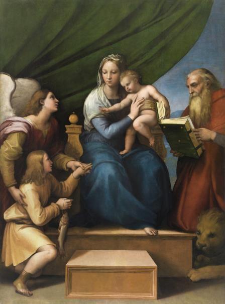 Rafael Sanzio - Sagrada Familia con Rafael, Tobías y San Jerónimo, o Virgen del pez - Colección - Museo Nacional del Prado