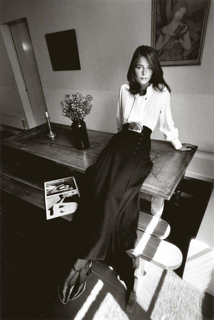 Charlotte Rampling, mode Yves Saint Laurent, Paris, Vogue France, 1970