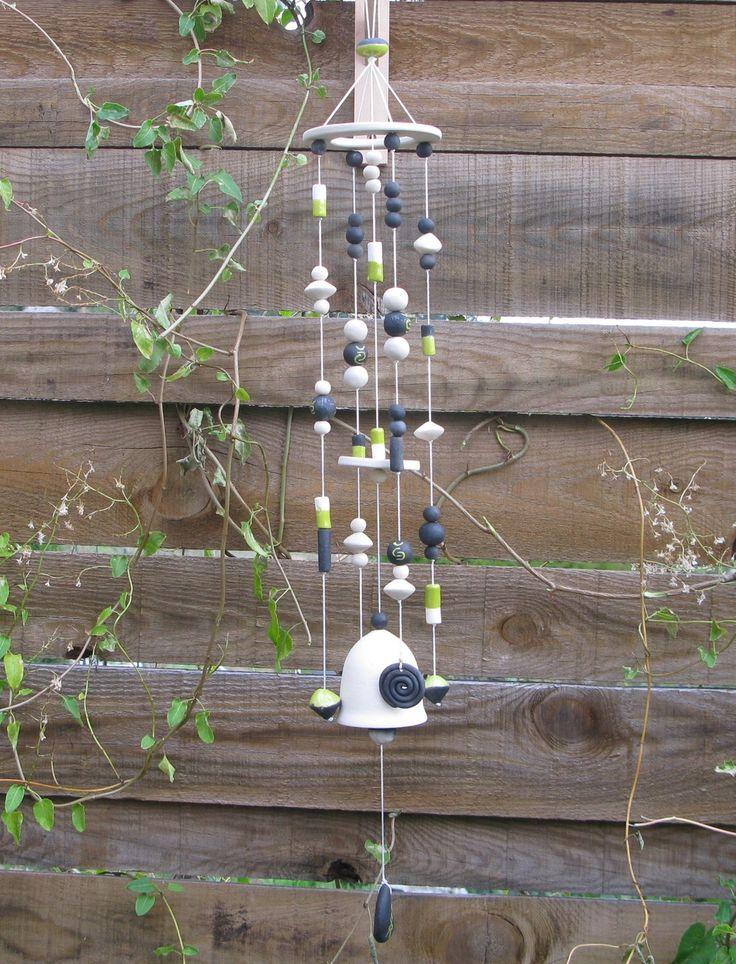 mobile carillon à vent en céramique