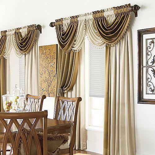 Imagen cortina con cenefa de onda entrelazada grupos for Modelos de cortinas modernas