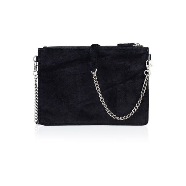 Superdry Velvet Clutch Bag (£30) ❤ liked on Polyvore featuring bags, handbags, clutches, black, velvet clutches, embossed handbags, zipper purse, velvet handbag and strap purse