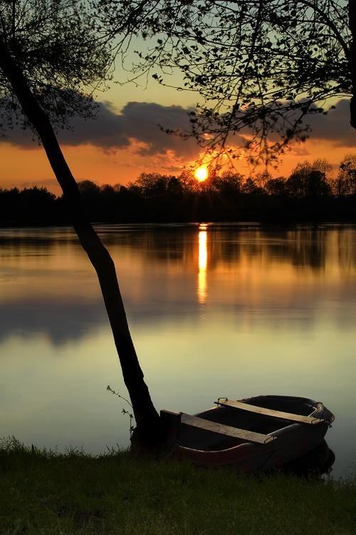 A storybook sunset...