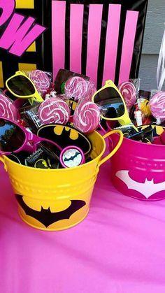 Batgirl Birthday Party Favor Buckets