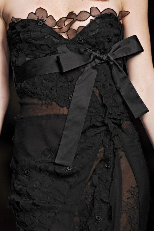 La Perla: Fashion, La Perla, Dresses Details, Black Ties Affair, Cherries Ice Cream, Bows, Black Lace Dresses, Little Black Dresses, Beautiful Life