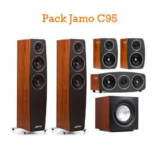 PACK DE ALTAVOCES JAMO C95. Formado por: 2 unidades Jamo C95 (Altavoces suelo) + 2 unidades Jamo C91 (Monitores) + 1 unidad Jamo 9 CEN (Central) + 1 unidad Jamo Sub J10 (Subwoofer). #Jamo #altavoces #conjunto #pack #Ofertas