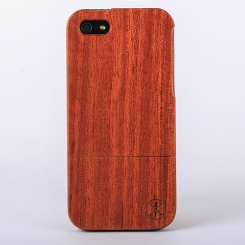 Rosewood Charleston Case - iPhone 5/5S - Crafted from a solid piece of rosewood and sanded and polished by hand, this unique case offers protection from harmful elements and scratches. Plus, 20% of the sale goes to charity and 1 tree is planted per product sold!