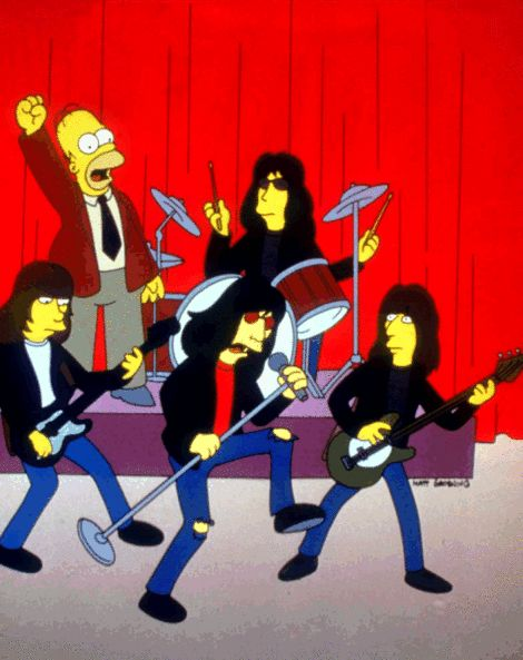 The Ramones on The Simpsons Video Link http://videosift.com/video/The-Ramones-Happy-Birthday-Mr-Burns