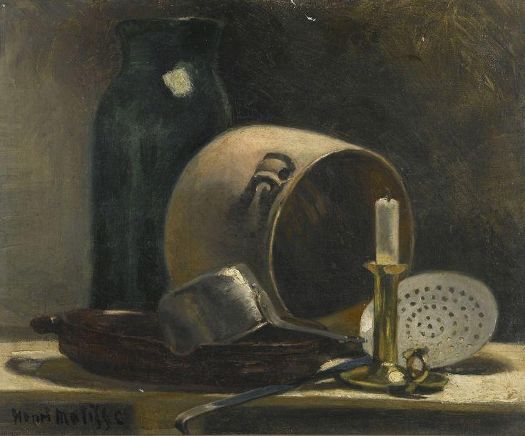 Henri Matisse (French, 1869-1954),Nature morte au pot de terre[Still life with clay pot], c.1892. Oil on canvas, 38.4 x 46.2cm.