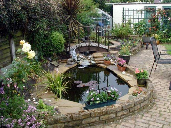 Garten ideen kleines teich anlegen gr cke terrasse for Teich anlegen ideen