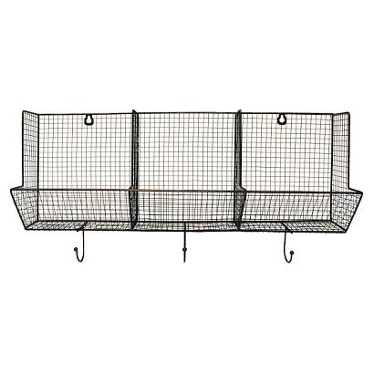 wire basket with hooks 3 slot 12 wire basket and winter months. Black Bedroom Furniture Sets. Home Design Ideas
