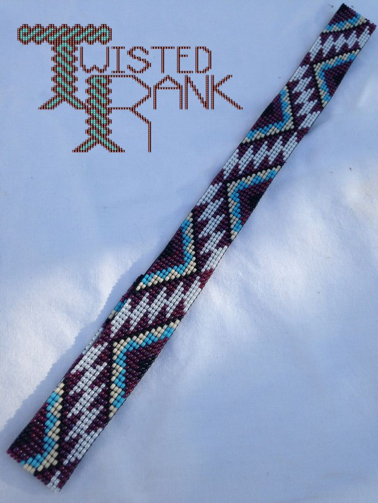 Beaded headband - Be sure to check out Twisted Rank Beadwork on Facebook!
