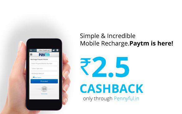 Hurray!! You asked for it and we delivered!!  Paytm is back on Pennyful!!  Now you get Rs. 2.5 cashback on all mobile recharges on PayTM and 1.5% back on your PayTM shopping.  Happy Recharging!!  Visit Paytm via Pennyful today: http://www.pennyful.in/paytm-cashback?utm_source=SocialMedia&utm_medium=Social&utm_campaign=DOTD?idref=63028