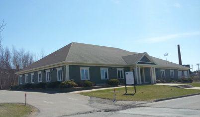 Springtime photo of our location: 189 Dykeland Street, Wolfville, Nova Scotia
