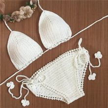 2016 Tricoté Crochet Bikini Maillot de Bain Sexy bikini ensemble Maillots De Bain femmes d'été robe À La Main femmes Maillot de Bain Brésilien maillot de bain(China (Mainland))