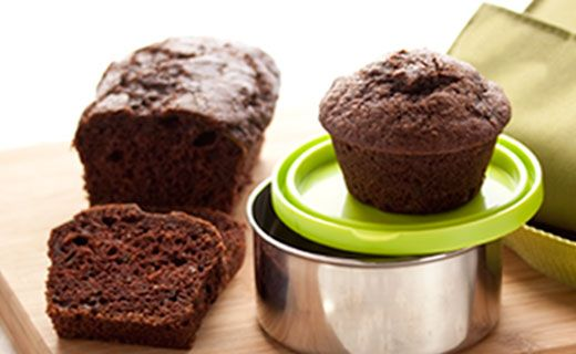 Snack: Double-duty Chocolate Zucchini Loaves and Muffins (160 calories/serving)