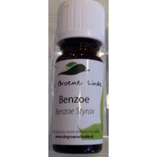Benzoë de Groene Linde etherische olie 10 ml