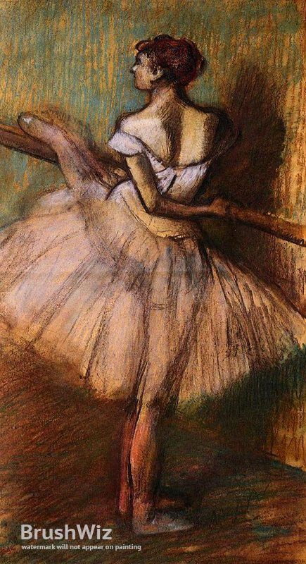 Dancer At The Barre by Edgar Degas - Oil Painting Reproduction - BrushWiz.com