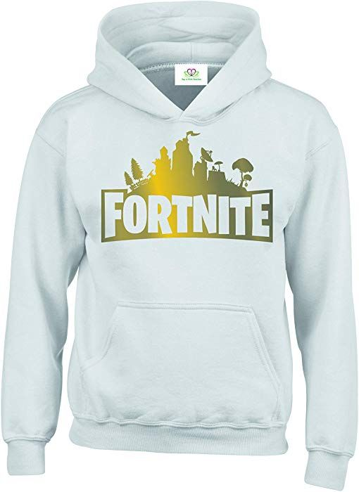 d03e233bd SIWS Special Edition Gold Logo Fortnite Gamer #1 Hoodie/Sweatshirt (12-13  Years, White): Amazon.co.uk: Clothing