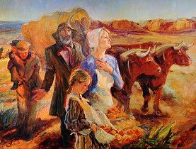 Mormon Pioneers | ... depicts the voyage of Swiss Mormon pioneers (courtesy Julie Rogers