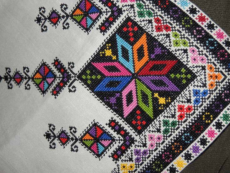 Ukrainian embroidery detail