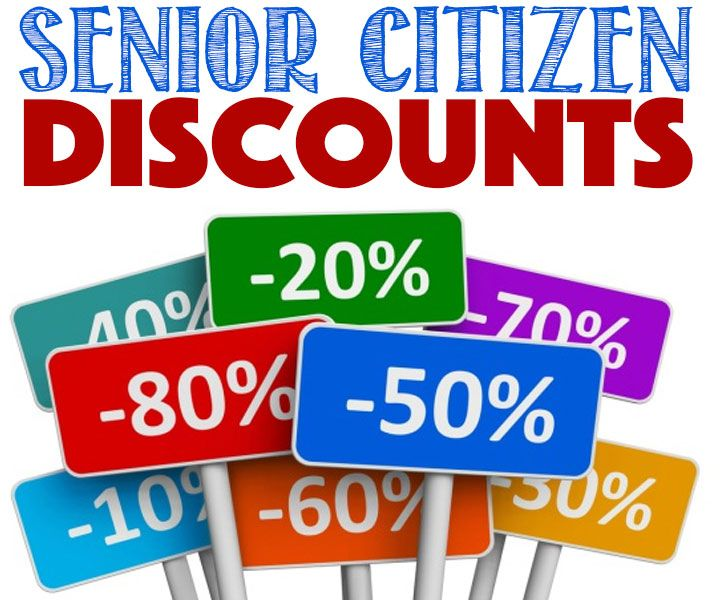 Huge List of Senior Citizen Discounts