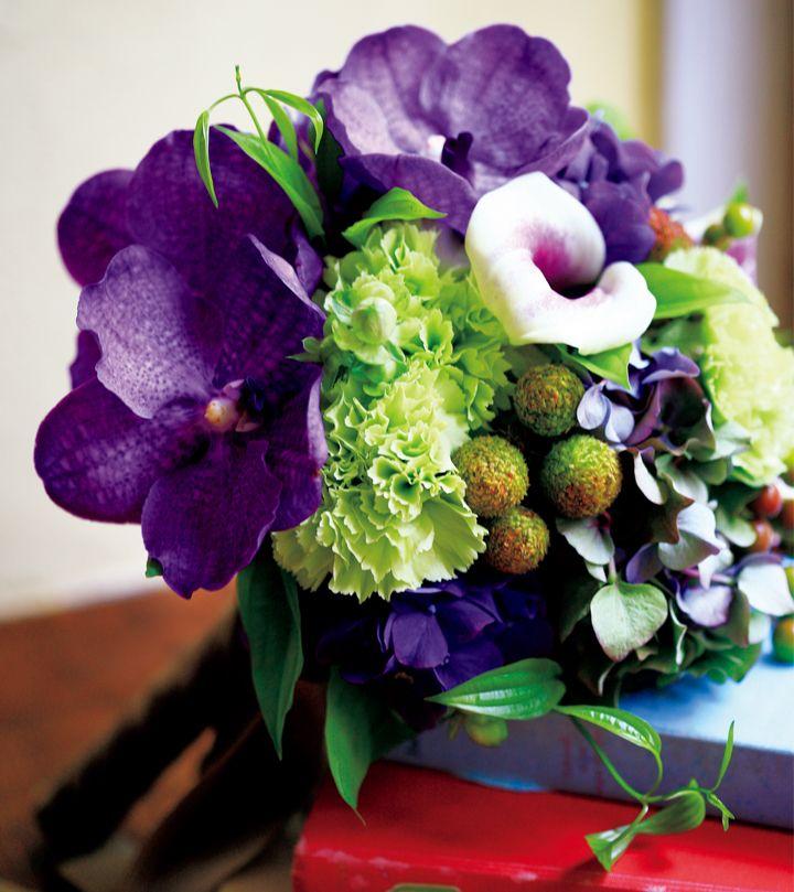 気張りすぎない花嫁に捧ぐ ブルー&パープルブーケSelection