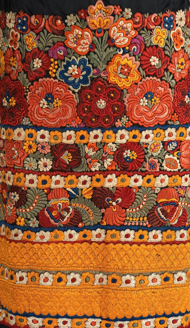 Apron Date: ca. 1920 Culture: Hungarian (Matyó) Medium: silk, cotton http://www.metmuseum.org/Collections/search-the-collections/158313