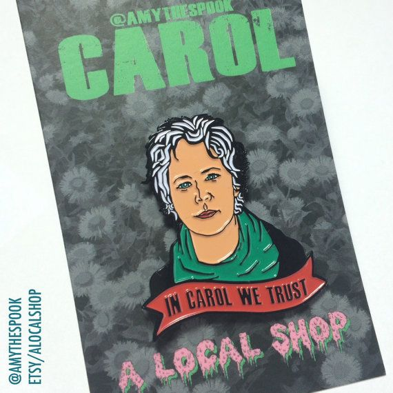 Hey, I found this really awesome Etsy listing at https://www.etsy.com/listing/287400969/carol-from-the-walking-dead-enamal-pin