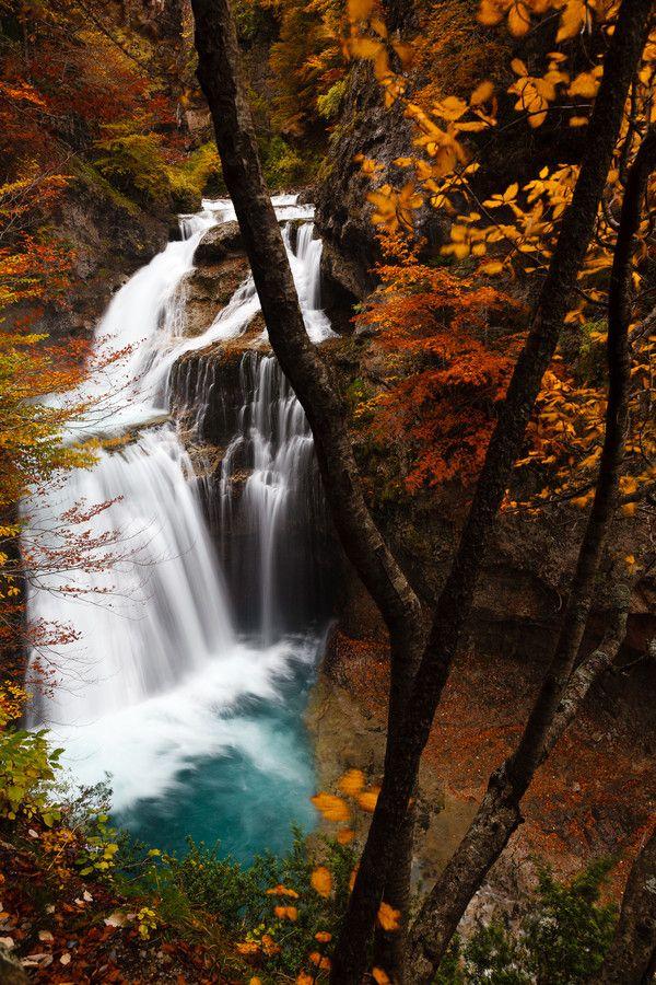 The Cascada de la Cueva, Ordesa Valley, Parque Nacional de Ordesa y Monte Perdido, Spain; photo by travelpix photography on 500px