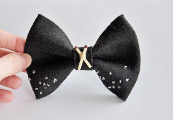 Salt and burn hair bow