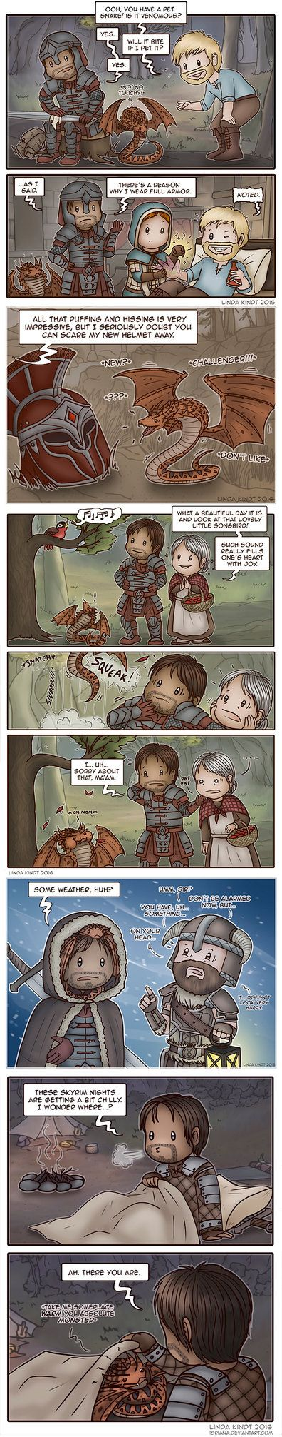 TESO: Adventures of Davius and Snek pt. 1 by Isriana on DeviantArt
