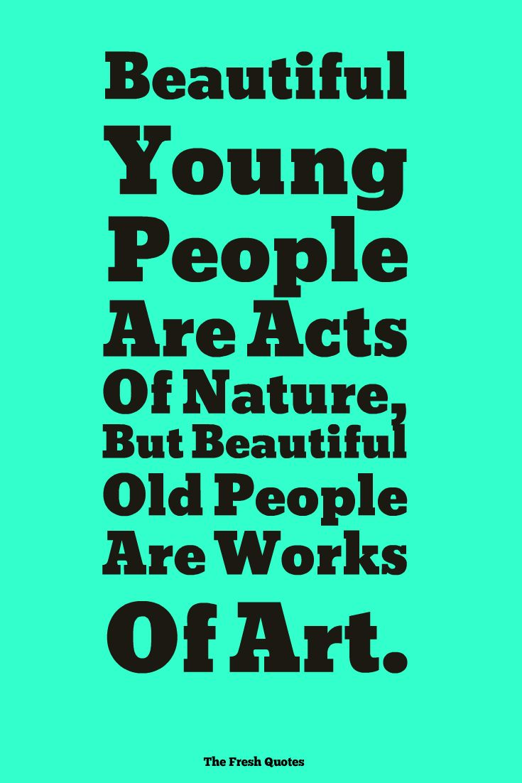 Beautiful Young People Are Acts Of Nature, But Beautiful