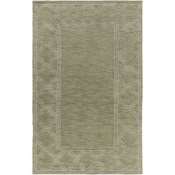 Peever Geometric Handmade Wool Green Area Rug Art Of Knot Area Rugs Wool Area Rugs