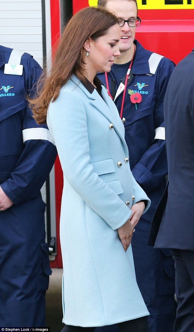 Feeling better Duchess? No hint of morning sickness as Kate Middleton shows off healthy glow during refinery tour with Prince William | Daily Mail Online