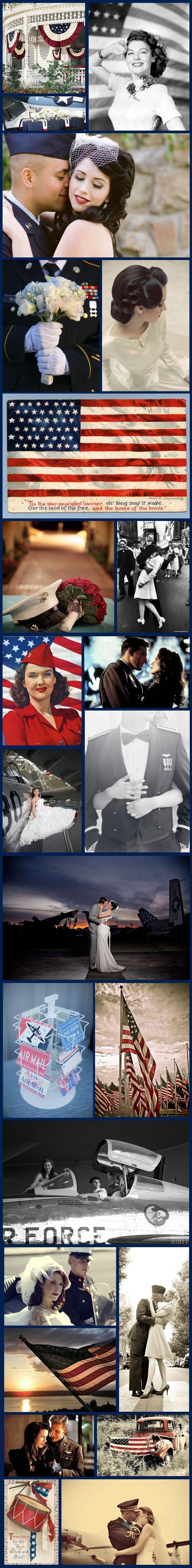Wednesday Wedding Inspiration: Vintage 4th July on Bespoke-Bride