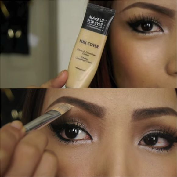 Concealer will even out the tops and bottoms of your eyebrows and can help fix…