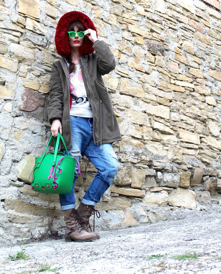 #hymy  #hymybag #streetstyle #ootd #fashion #casual #blogger #outfit #sporty #accessories #trend #ss16 #parka #green