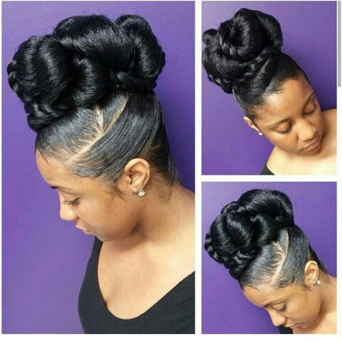 Best Faux Bun Ideas On Pinterest Marley Hair Bun Natural - Hairstyle bun videos