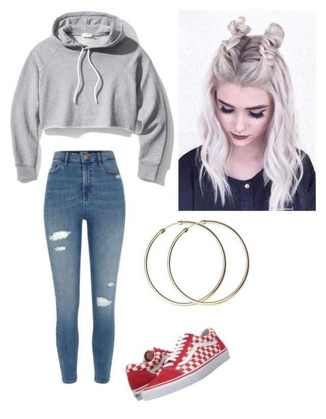 """""""Untitled #100"""" by haileymagana on Polyvore featuring Vans, River Island and Frame"""