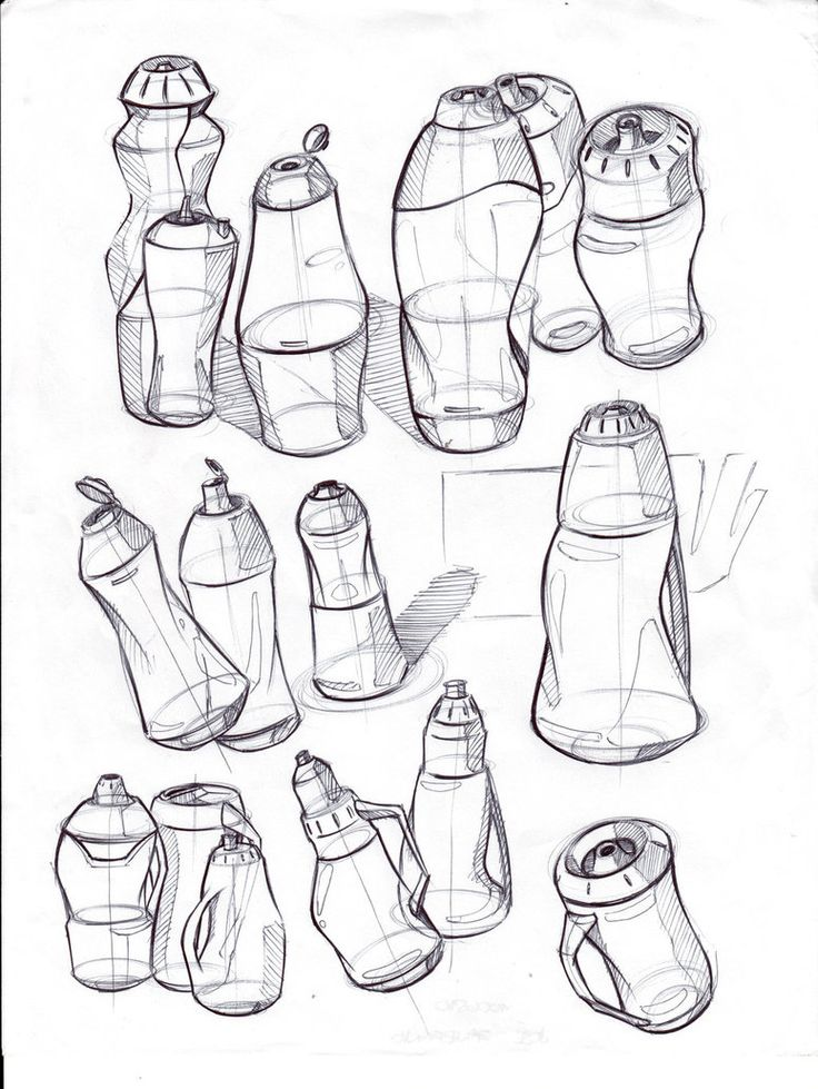 Student example for LINE  SHAPE? FORM?  Industrial Design Sketches by ~josepa on deviantART