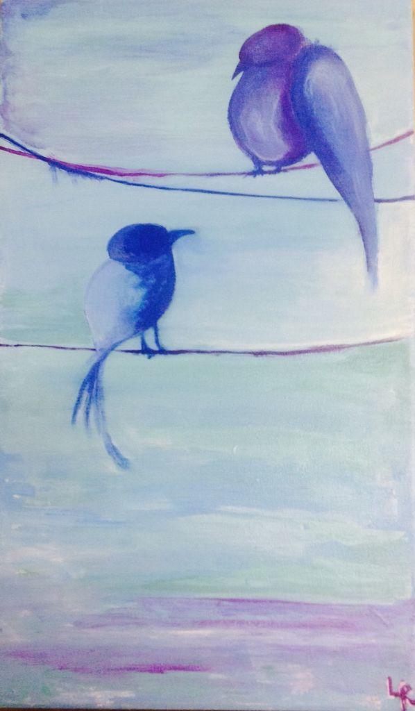Birds , art, sky Loli Roberts arte