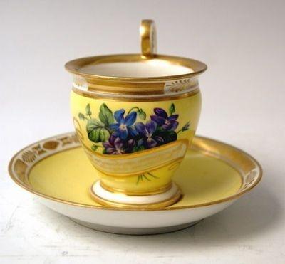 Alt Wien Sammel Tasse Blumen Veilchen Royal Vienna Cup Saucer Bindenschild 1832: