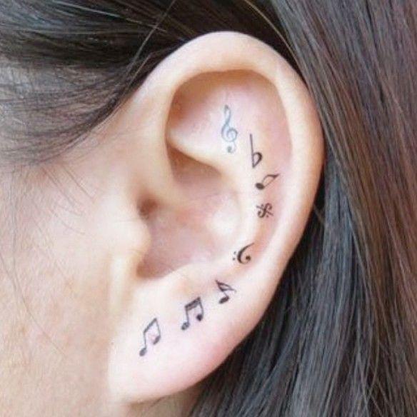 20 pequeños y discretos tatuajes en la oreja por si quieres ir cogiendo ideas